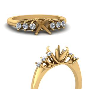 Semi Mount Yellow Gold Engagement Ring