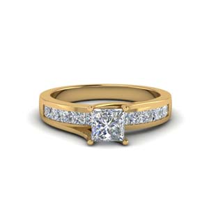 Accent Side Stone Engagement Ring
