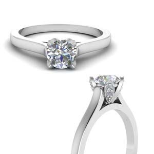 Solitaire Ring With Side Stone