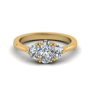 Half Moon 3 Oval Diamond Ring