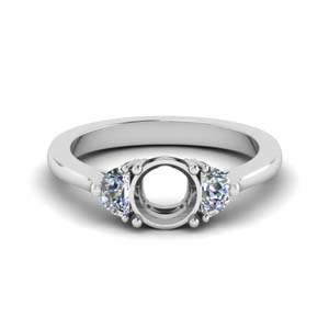 Platinum Semi Mount Wedding Ring