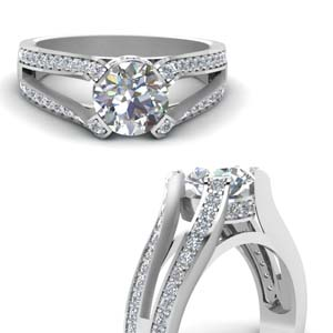 Split Diamond Cathedral Ring