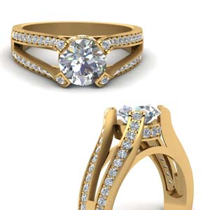 Under Halo Diamond Split Ring