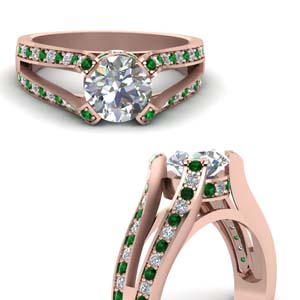Double Shank Engagement Ring