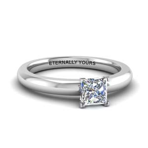 Princess Diamond Solitaire Ring