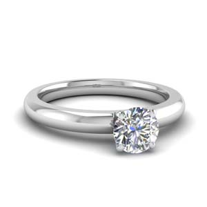 1 carat diamond round solitaire ring in FDENR8027ROR NL WG