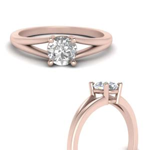 Solitaire Round Cut Diamond Ring