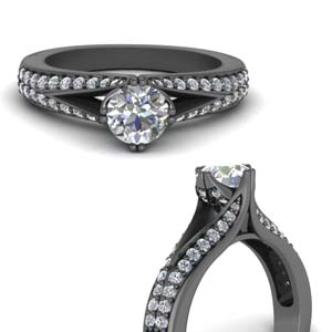 Split Pave Diamond Ring