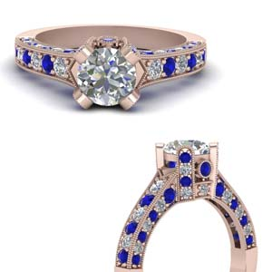Crown Sapphire Antique Ring