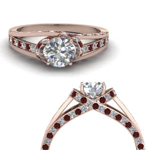 criss cross halo diamond engagement ring with ruby in FDENR8359RORGRUDRANGLE3 NL RG.jpg