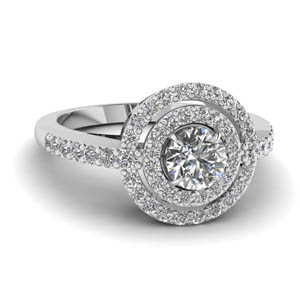 Duet Halo Diamond Wedding Ring