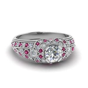 Pink Sapphire Victorian Ring