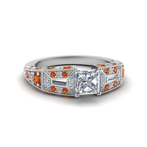 Beautiful Orange Sapphire Ring