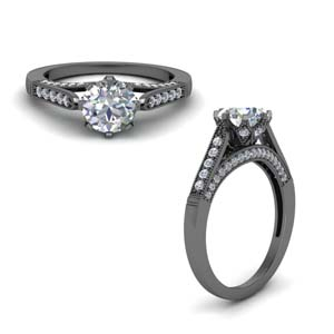 Milgrain Pave Diamond Ring