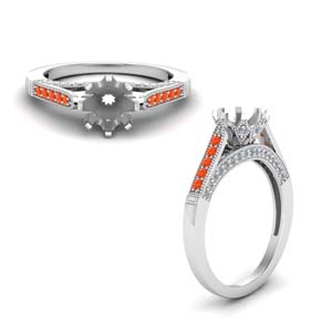 Platinum Semi Mount Cathedral Ring