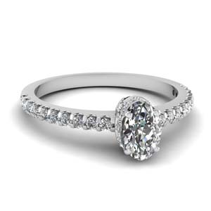 Thin Diamond Engagement Ring