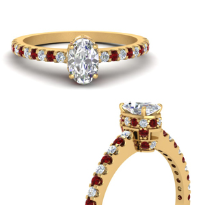 Ruby With 0.75 Karat Thin Ring