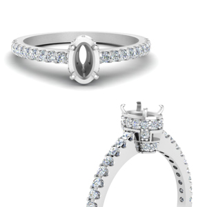 Petite Engagement Ring Setting