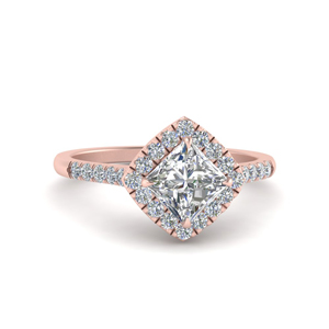Kite Set Halo Diamond Ring
