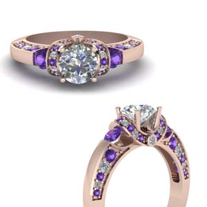 Antique Purple Topaz Ring