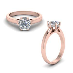 Round Diamond Rings 1/2 Ct. For Womens