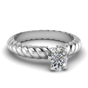 Rope Cushion Cut Ring