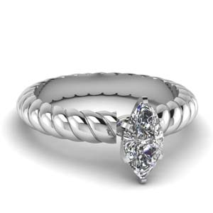 Platinum Marquise Solitaire Ring