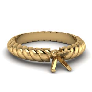 Semi Mount Rope Design Ring