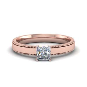18K Rose Gold Moissanite Rings