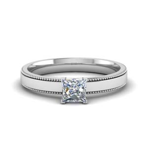 Milgrain Solitaire Ring