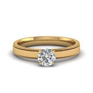 Milgrain Diamond Rings