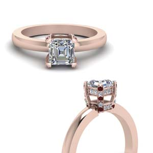 Asscher Cut Diamond Ring