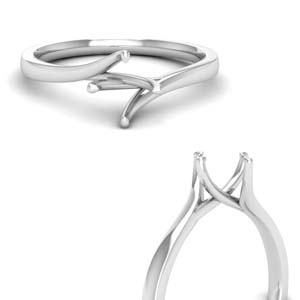 Twisted Semi Mount Solitaire Ring