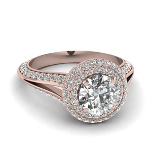 Micropave Split Shank Halo Ring
