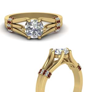 6 Prong Ruby Engagement Ring