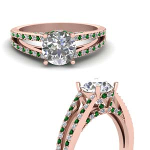 Emerald Pave Wrap Ring
