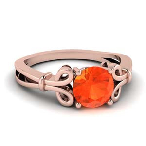 Rose Gold Orange Topaz Cheap Ring