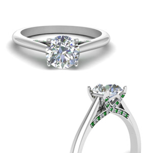 Cathedral Emerald Pave Ring