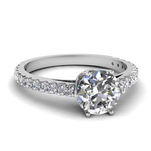 0.75 Ct. Diamond Crown Engagement Ring