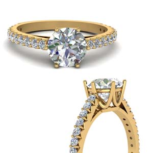 Round Diamond Crown Ring