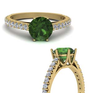 Crown Emerald Ring Gold