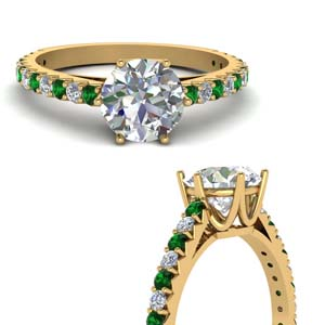 Yellow Gold Emerald Petite Ring