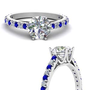 Sapphire Crown Engagement Ring