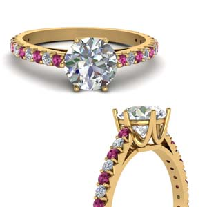 Petite Round Diamond Gold Ring