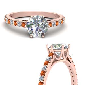 Orange Sapphire 18K Rose Gold Ring
