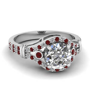 Accent Ruby With Round Shaped Ring
