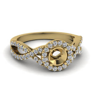 Diamond Halo Ring Settings