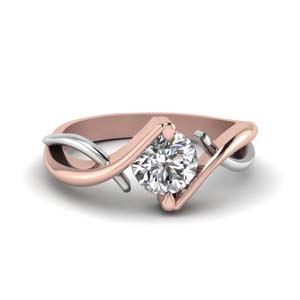 Mixed Metal Solitaire Ring