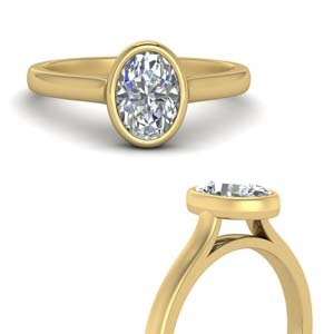 Oval Shaped Diamond Solitaire Ring
