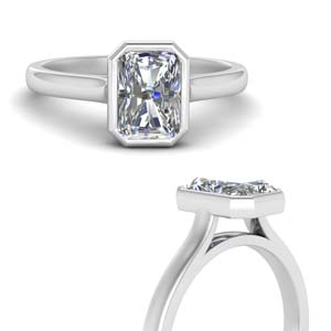Radiant Cut Cathedral Solitaire Ring